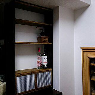 棚/DIY/キッチンカウンター/ワイン/コーヒー機具のインテリア実例 - 2014-10-12 17:13:16