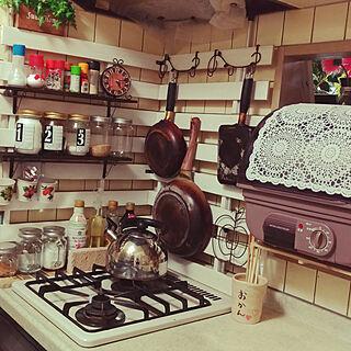 キッチン/模様替え/キッチンカウンター/すのこDIY/食器乾燥機のインテリア実例 - 2017-08-12 17:43:07
