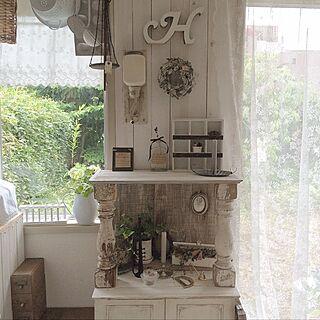 リビング/matricariaさん♡/リース/DIY/アンティーク/コーヒーミル...などのインテリア実例 - 2014-07-13 13:12:05