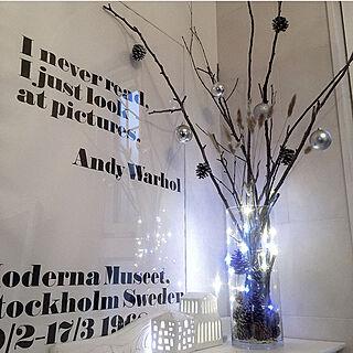 リビング/LEDライト/クリスマス/海外インテリアに憧れる/Andy Warhol...などのインテリア実例 - 2017-11-23 12:35:19