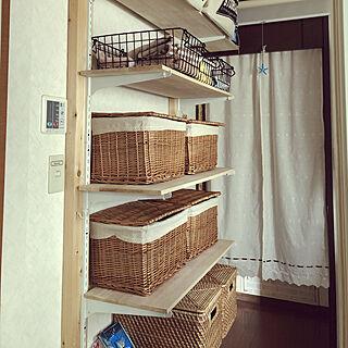 女性家族暮らし、ワイヤーかごに関するmiiko3さんの実例写真