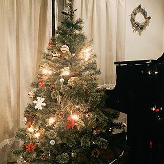 リビング/息子作リース/クリスマス/こんばんは✩.*˚/いつもありがとうございます(*≧∀≦*)...などのインテリア実例 - 2016-12-02 21:17:30
