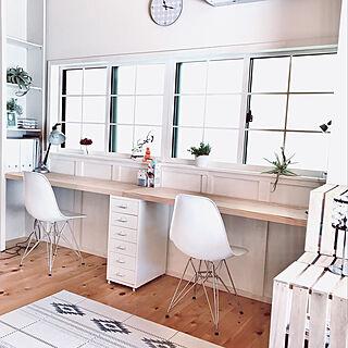 IKEA/格子窓DIY/デコ窓/ワークスペースdiy/やめたこと...などのインテリア実例 - 2019-10-30 12:30:38