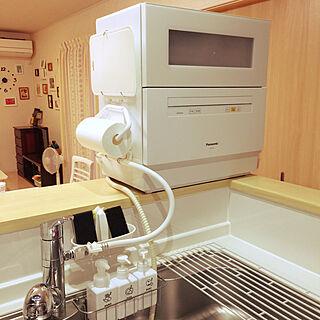 家族暮らし4LDK、キッチンカウンターからに関するsyukekoさんの実例写真
