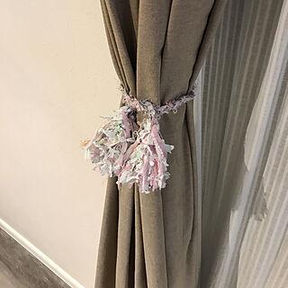 女性35歳の家族暮らし4LDK、糸カーテンに関するayamonさんの実例写真