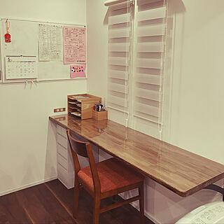 女性家族暮らし、机の横に関するfujicoさんの実例写真