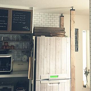 女性家族暮らし4LDK、Kitchen インテリアシートに関するakko1205さんの実例写真