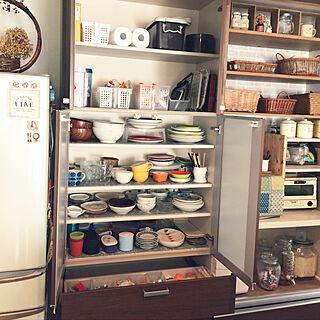 キッチン/食器棚シート カフェ柄/食器棚シート/2018.2.16/食品ストック収納...などのインテリア実例 - 2018-02-16 11:24:22