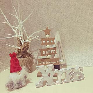 玄関/入り口/クリスマス/クリスマスディスプレイ/クリスマス飾り/クリスマス雑貨...などのインテリア実例 - 2018-11-02 22:15:19