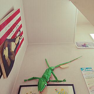 壁/天井/子供部屋&キッズスペース/ナチュラル/ハンドメイド/フェイクグリーン...などのインテリア実例 - 2021-04-08 14:20:18