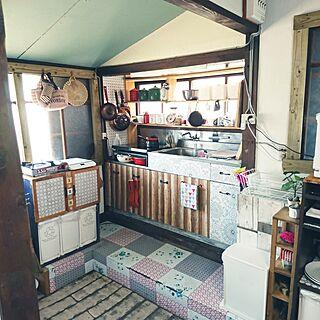 キッチン/初投稿/DIY Kitchen/ハンドメイド/北欧雑貨...などのインテリア実例 - 2017-04-16 09:44:35