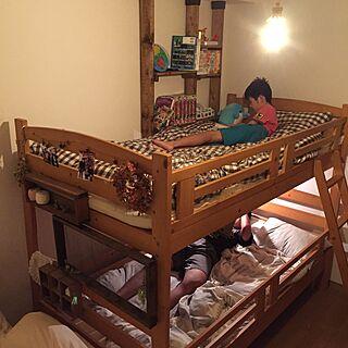 ベッド周り/2段ベッド/賃貸/アンティーク風/念願の...などのインテリア実例 - 2016-08-30 19:56:52