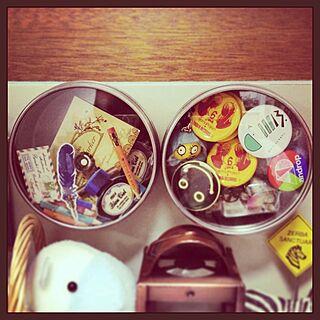 女性21歳の家族暮らし、缶バッジに関するre_walkさんの実例写真