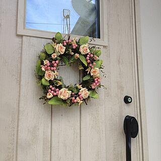 玄関/入り口/窓の家/無印良品の家/リースのインテリア実例 - 2015-05-24 14:05:29