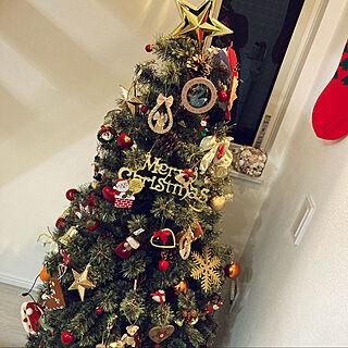 クリスマスツリー150cm/クリスマスオーナメント/クリスマスツリー/リビングのインテリア実例 - 2020-12-11 02:04:12