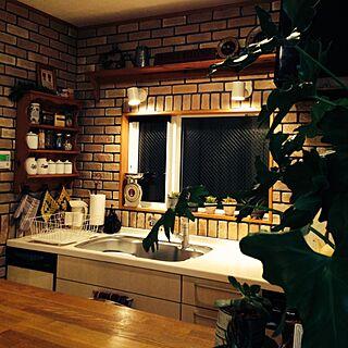 キッチン/カウンターからの眺め/お気に入りゾーン♡のインテリア実例 - 2014-01-03 20:49:53