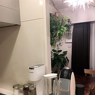 キッチン/ミキサー&コーヒーメーカー/ウォールナット/カフェ風/手作り...などのインテリア実例 - 2017-08-17 23:39:05