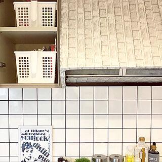 壁/天井/元は全部茶色でした/セルフリフォーム/モノトーンインテリア好き/キッチンボードの中...などのインテリア実例 - 2018-04-21 23:21:23