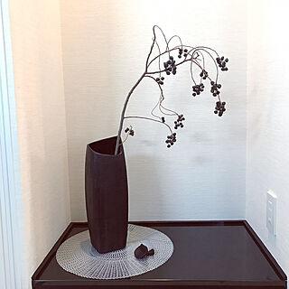机/ニトリの花瓶/つくえではない。/キノコ♡/今日買ったもの...などのインテリア実例 - 2017-09-22 14:57:40