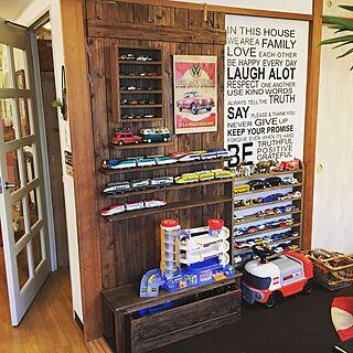 壁/天井/おもちゃ収納/カフェ風インテリアを目指して/いろいろなインテリアが好き/襖を隠す...などのインテリア実例 - 2017-05-08 06:17:00