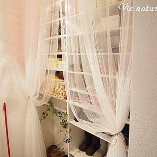 玄関/入り口/シュークローク/IKEA/IKEAカーテン/ブログしてます...などのインテリア実例 - 2013-12-17 07:13:38