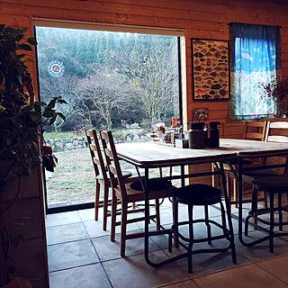 机/BESSの家/ピクチャーウィンドウ/土間のある暮らし/古材テーブル...などのインテリア実例 - 2020-11-27 08:10:36