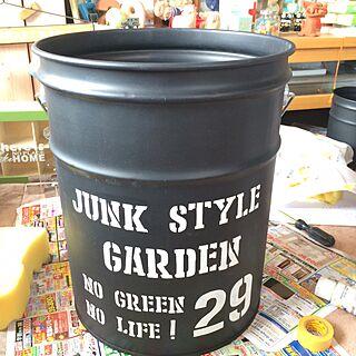 黒板塗料/リメイク缶/キッチン/JUNK/ジャンク雑貨...などのインテリア実例 - 2016-03-20 06:53:46