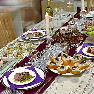 リビング/ホームパーティー/Xmasディナー/手作り料理/お洒落な空間...などのインテリア実例 - 2018-12-22 15:40:14