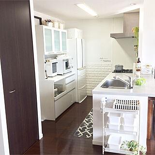 キッチン/無印良品のトースター/オープンキッチン/グレーが好き/白が好き...などのインテリア実例 - 2018-01-16 12:00:14