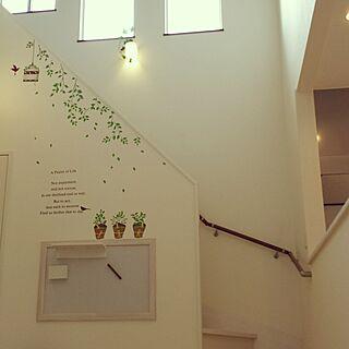 壁/天井/シンプルが好き/吹き抜けリビング/リビング階段/冬寒そう...などのインテリア実例 - 2016-08-06 06:57:02