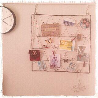 壁/天井/雑貨/アイアン壁かけ/時計/写真のインテリア実例 - 2013-10-07 19:44:35