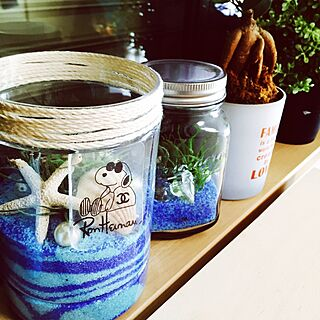 女性28歳の家族暮らし4LDK、青い瓶に関するunoさんの実例写真