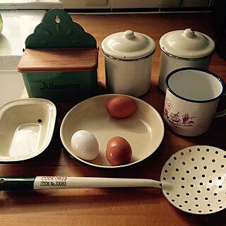 キッチン/ホーロー製品/アルメット缶/マグカップ/ホーローキャニスター...などのインテリア実例 - 2016-06-21 17:49:57