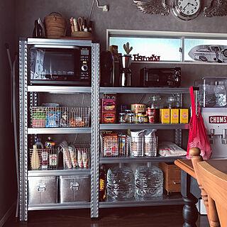 女性35歳の家族暮らし2LDK、システムキッチンに関するmanolaさんの実例写真