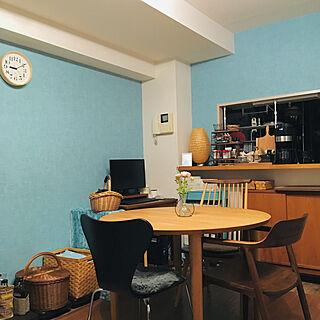 女性家族暮らし3LDK、丸~い照明♡に関するhiorminさんの実例写真