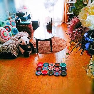 部屋全体/Botanical ×beach/NO GREEN NO LIFE/手編み オリジナル/丸...などのインテリア実例 - 2018-03-21 10:58:29
