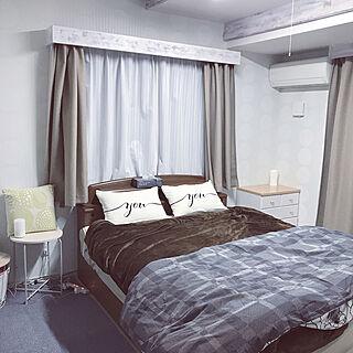 ベッド周り/クィーンベッド/ニトリ/IKEA/風水deお部屋作り...などのインテリア実例 - 2019-02-21 19:54:23