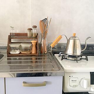 キッチン/調理器具収納/WECK/ガスコンロ/ホワロ...などのインテリア実例 - 2017-10-31 11:29:13