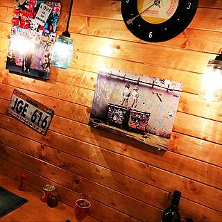Banksy/黒猫/プフ/西海岸インテリア/手作りライト...などのインテリア実例 - 2020-11-15 22:46:59