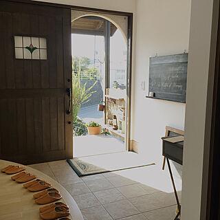 玄関/入り口/アンティーク/ステンドグラス/アールの框/アールの入り口...などのインテリア実例 - 2018-04-11 09:17:40