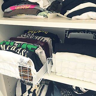 女性家族暮らし3LDK、洋服棚に関するYukoさんの実例写真
