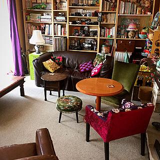 女性同棲3DK、イギリス家具に関するnekohigeさんの実例写真