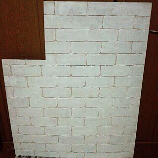 壁/天井/リフォーム/DIYペイント/アトリエ改造中…まだ終わらない。/ベニア腰壁...などのインテリア実例 - 2014-03-27 01:46:50