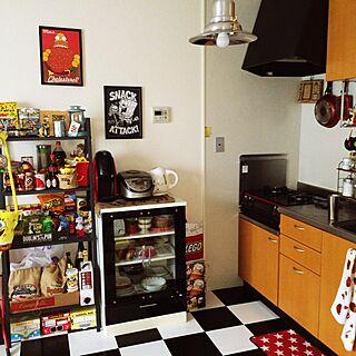 キッチン/雑貨/白黒/セリア/IKEA...などのインテリア実例 - 2014-08-04 15:31:38