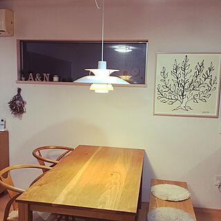 ダイニングテーブル/アンリマティス 低木/ナチュラル/北欧/ダイニングチェア...などのインテリア実例 - 2020-09-27 20:21:55