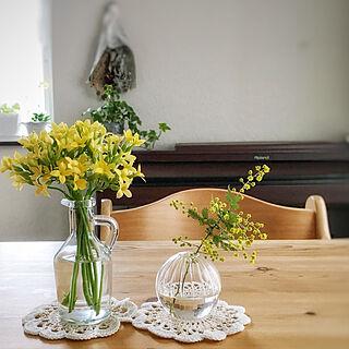 机/ダイニング/花を飾る/一輪挿し/育てた花...などのインテリア実例 - 2018-03-16 21:51:22