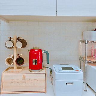 女性家族暮らし、デロンギ電気ケトルに関するokonachanさんの実例写真