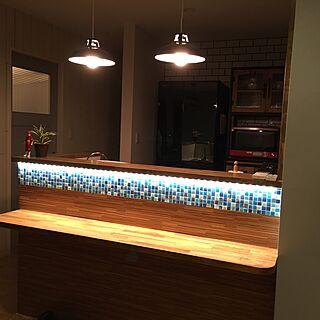 キッチン/LED照明/タイルカウンター/ゼロキューブ/カリフォルニアスタイル...などのインテリア実例 - 2016-08-22 21:31:10