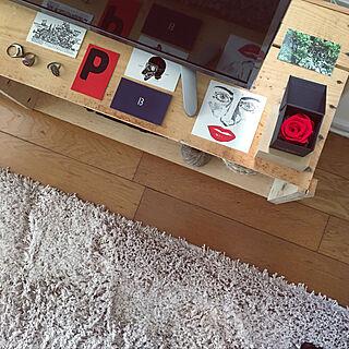 女性25歳の同棲1LDK、りんご箱に関するmaruさんの実例写真