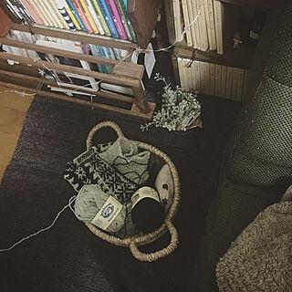 リビング/毛糸/編み物/レトロ/文庫本...などのインテリア実例 - 2018-11-11 09:14:20